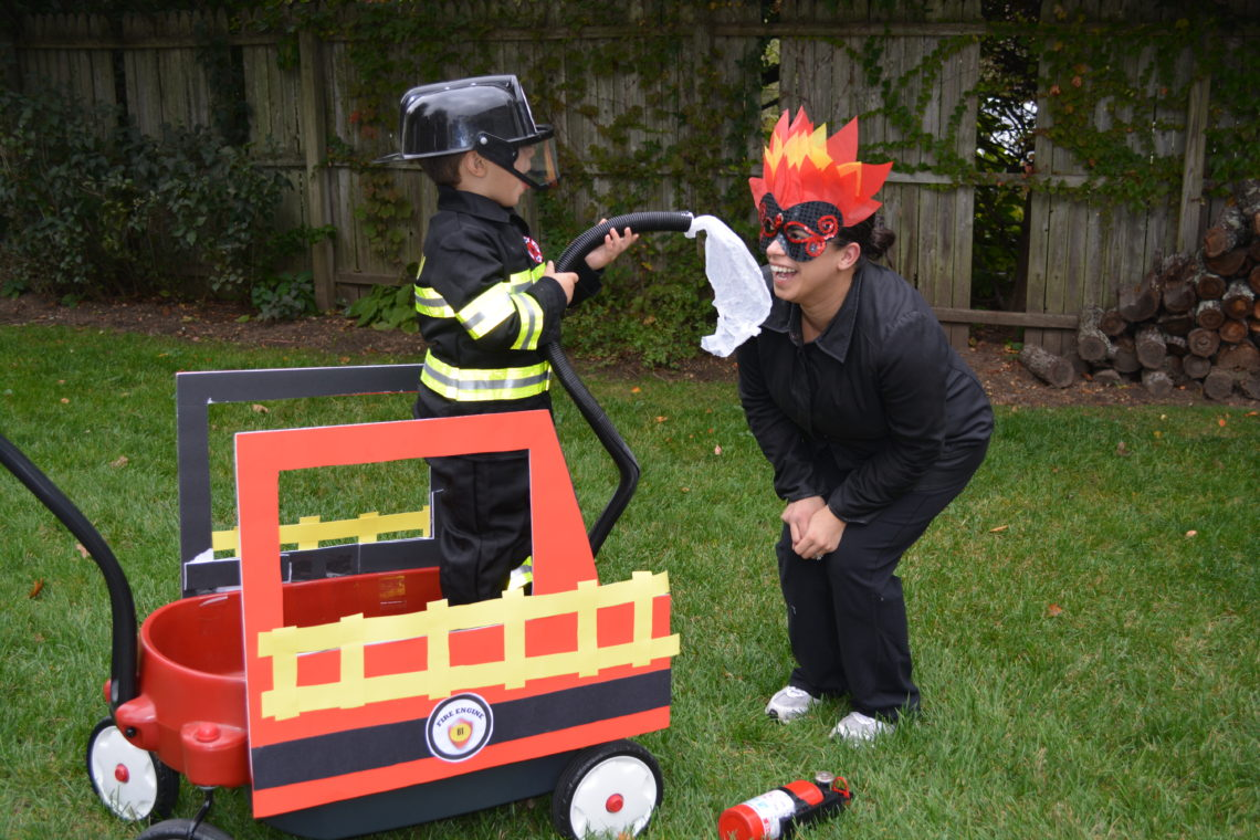 How To Prep Firefighter Themed Halloween Costume For The Family Prep And Shine