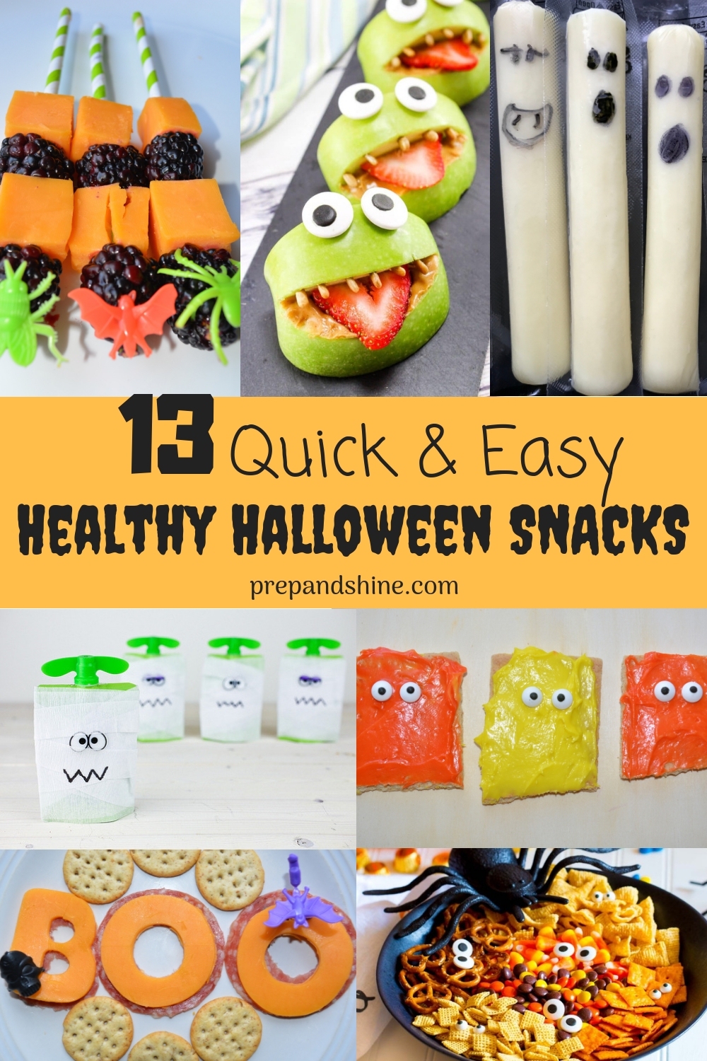 18 Quick and Easy Healthy Halloween Snack Ideas - Prep and Shine