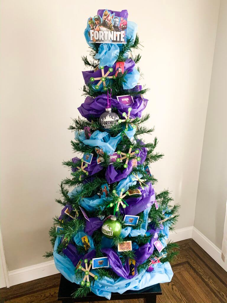 How To Prep The Ultimate Fortnite Themed Christmas Tree Prep And Shine